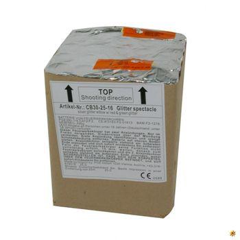 Feuerwerksbatterie Glitter Spectacle 25-30 Sek. von Pyrotrade