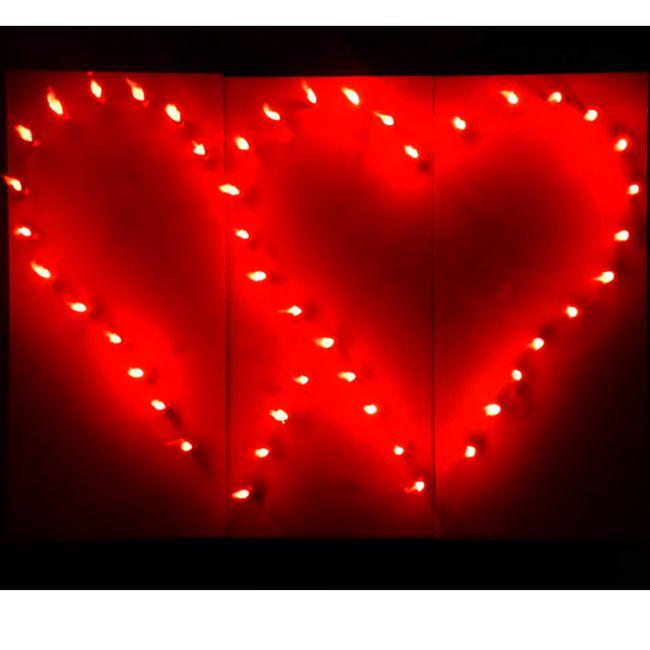 Lichterbild Brennende rote Herzen Doppelherzen rot Lichterbilder Feuerherz Geschenkidee Hochzeitsgeschenk Liebe Love Geburtstag Verlobung