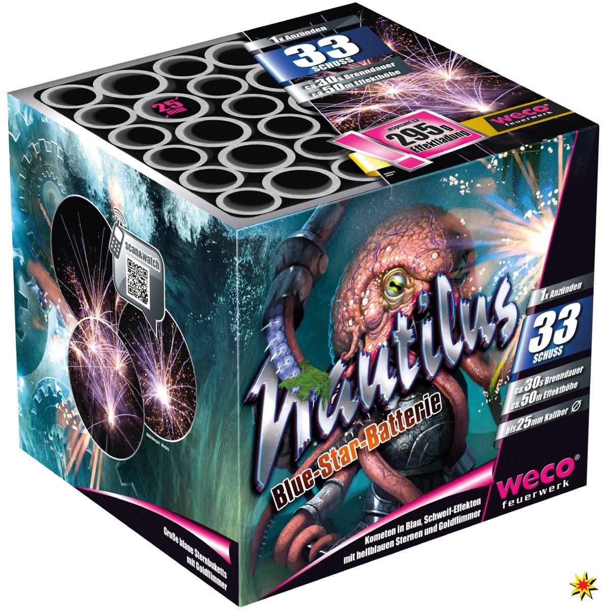 Feuerwerk Batterie Nautilus 33 Schuss Für Silvester und andere Anlässe