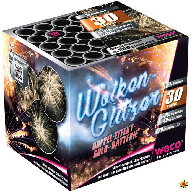 Feuerwerk Batterie Wolkenglitzer 30 Schuss für Silvester und andere Anlässe