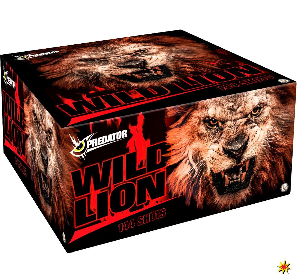 Wild Lion Verbundfeuerwerk 144 Schuss  für Hochzeiten, Geburtstage, Silvester