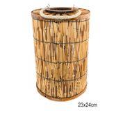 Tropical Bambus Laterne Gartenlaterne Party Deko Windlicht Holz