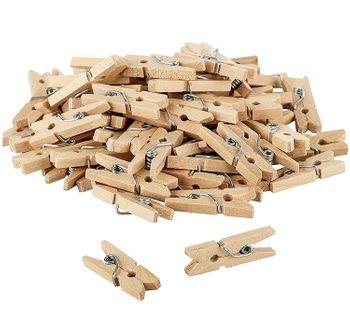 Mini Holz Wäscheklammern 2 cm Deko Fotos DIY Basteln, 50 Stück