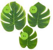 Mottoparty Party-Deko Tropical Hawaii Palmenblätter 13 Stück