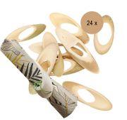 Party-Deko Serviettenhalter oval Bambus Tropical 24 Stück
