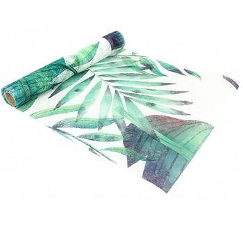 Tischläufer Tropical Tischdecke Blattgrün 5mx30cm