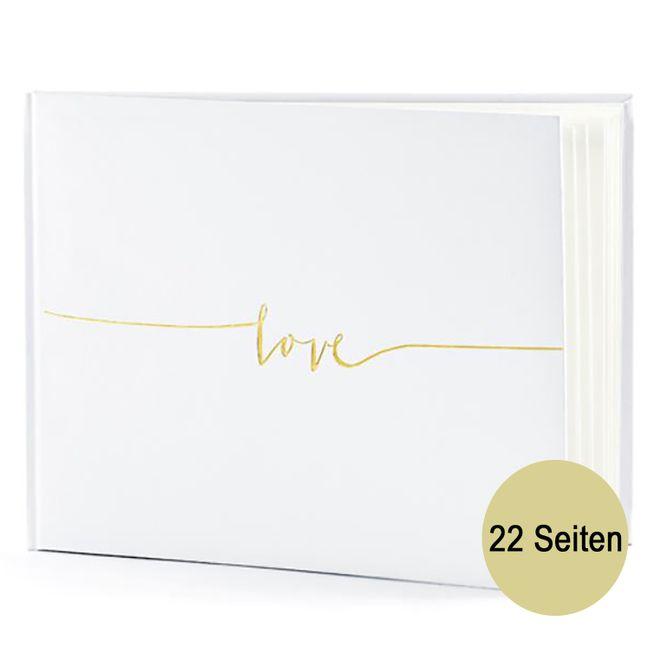 Gästebuch Hochzeit cremefarben gold Fotoalbum Hochzeitsalbum 22 Seiten Geschenkidee Hochzeitsfeier Hochzeitsgästebuch
