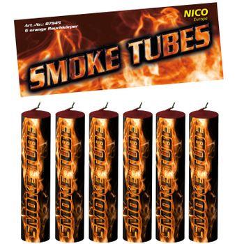 Nico Smoke Tubes Orange  - 6 Rauchfackeln je 50 Sek.