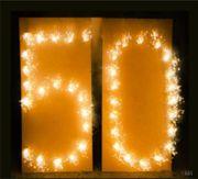 Brennende Zahl 50 Lichterbild Geburtstag Goldene Hochzeit