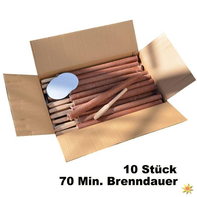 10 Hochwertige Fackeln 70 Minuten Brenndauer