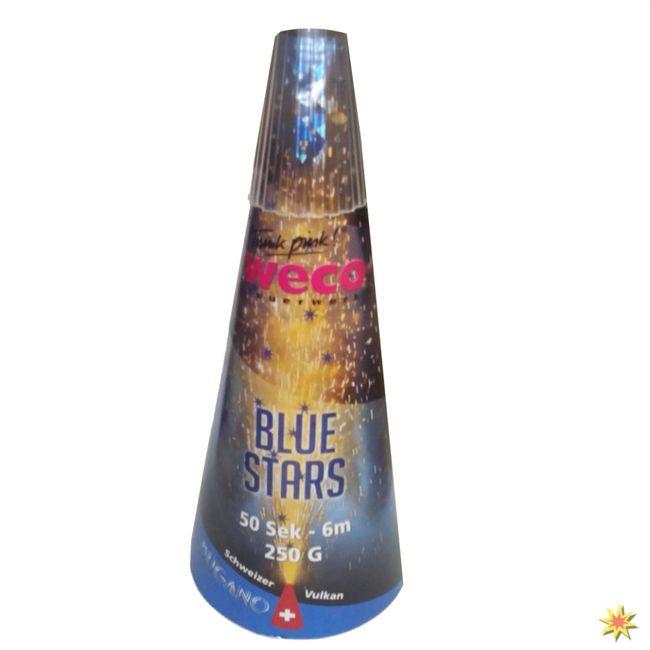 Bodenfeuerwerk Schweizer Blue Star Vulkan Leuchtfeuerwerk Leises Feuerwerk