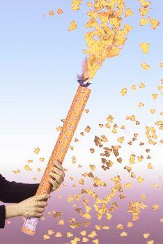 Shooter mit goldenen Herzen, Konfettikanone 60 cm