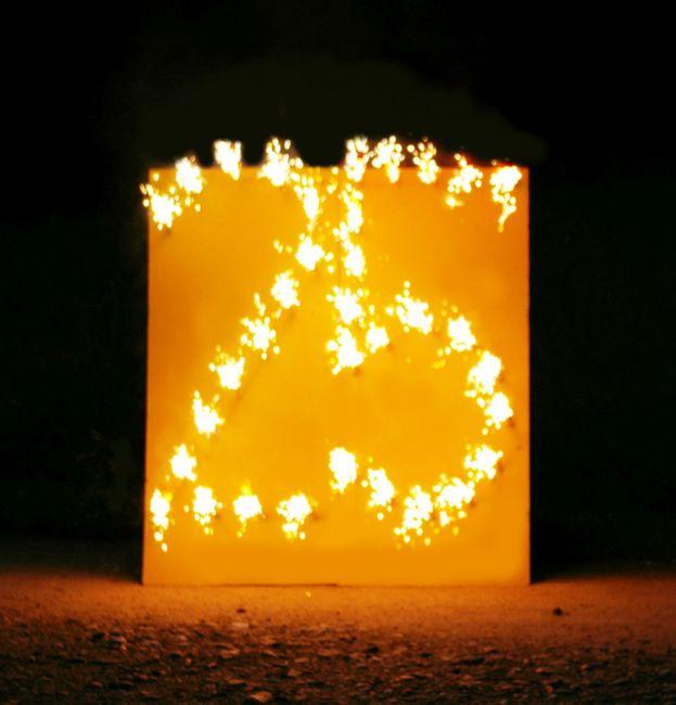 Lichterbild Brennende Zahl 25 Feuerbild Lichterbilder Geschenkidee Silberhochzeit Geburtstag Jubiläum Hochzeit