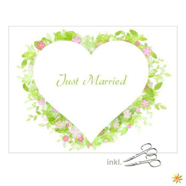 """Herzlaken """" Blumenwiese"""" zum Ausschneiden Hochzeitslaken"""